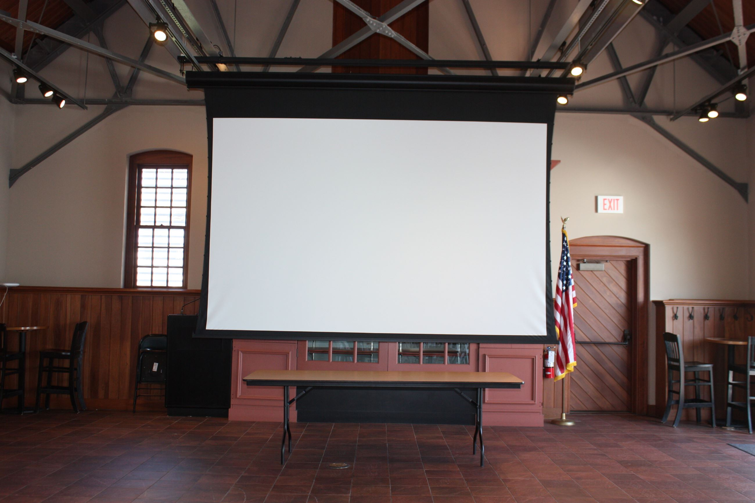 Freight Shed Projector Screen