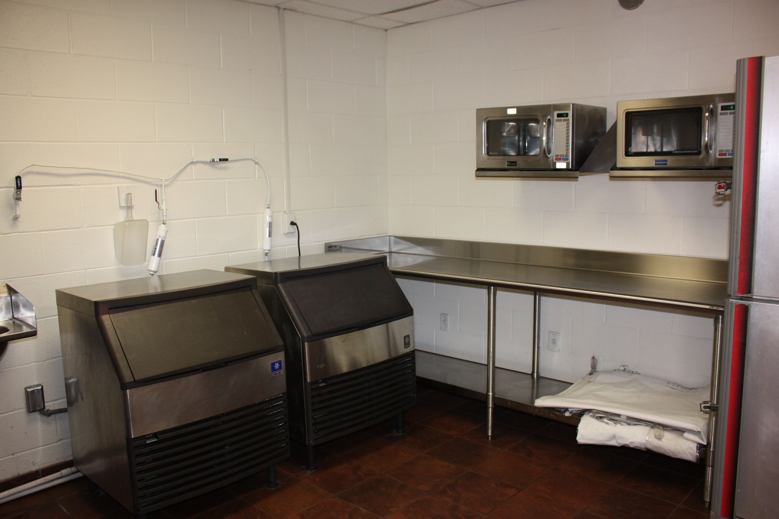 Ice Machines, Microwaves and Prep Area