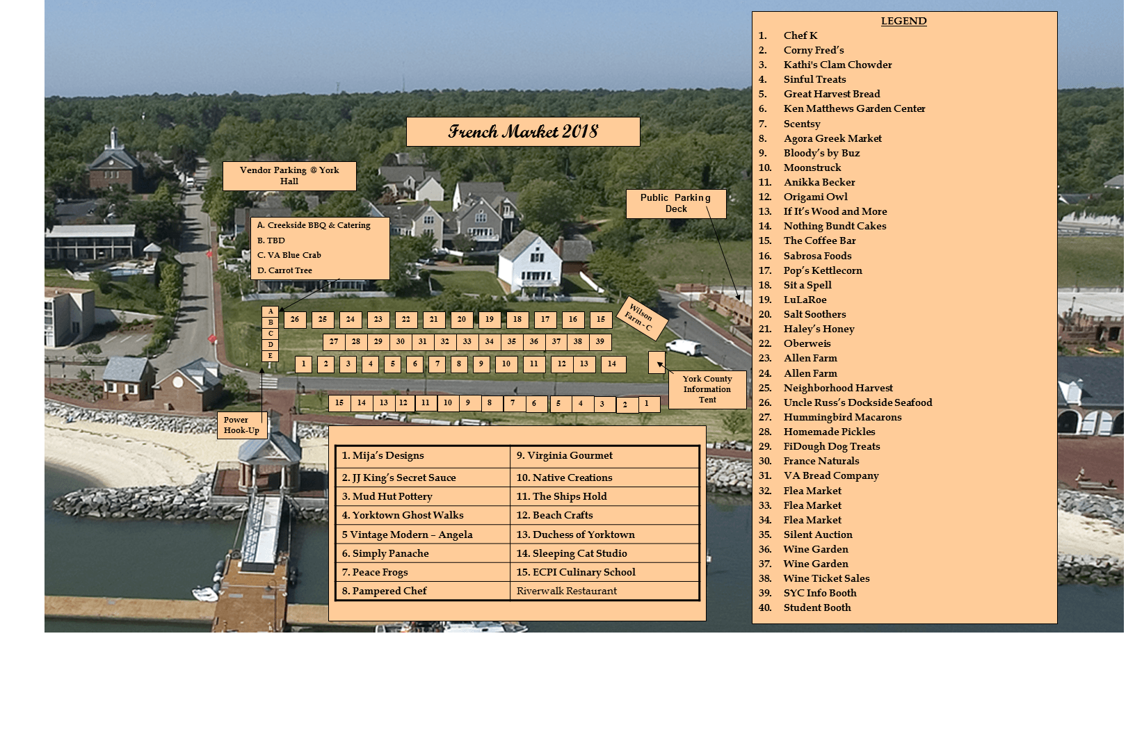2018 French Market Site Plan
