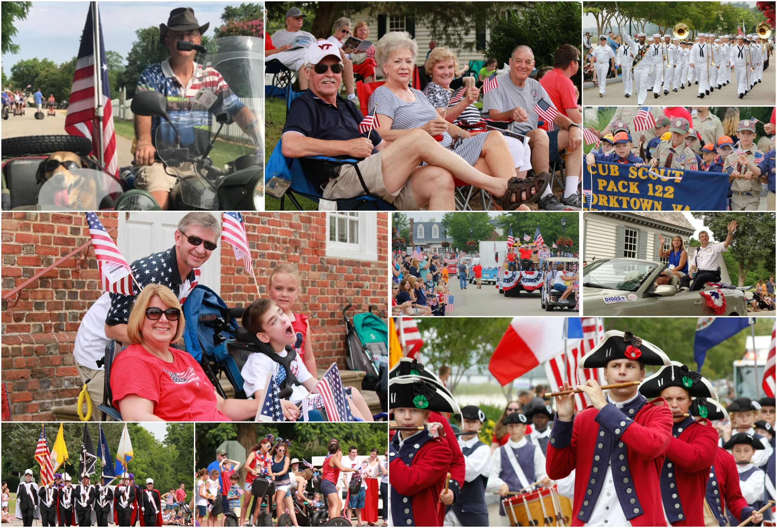 July Fourth Parade Collage