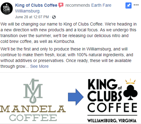 Mandela Coffee Instagram