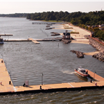 Yorktown Beach and Riverwalk Landing Piers