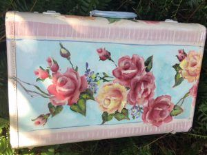 Painting of Limoges Style Rose