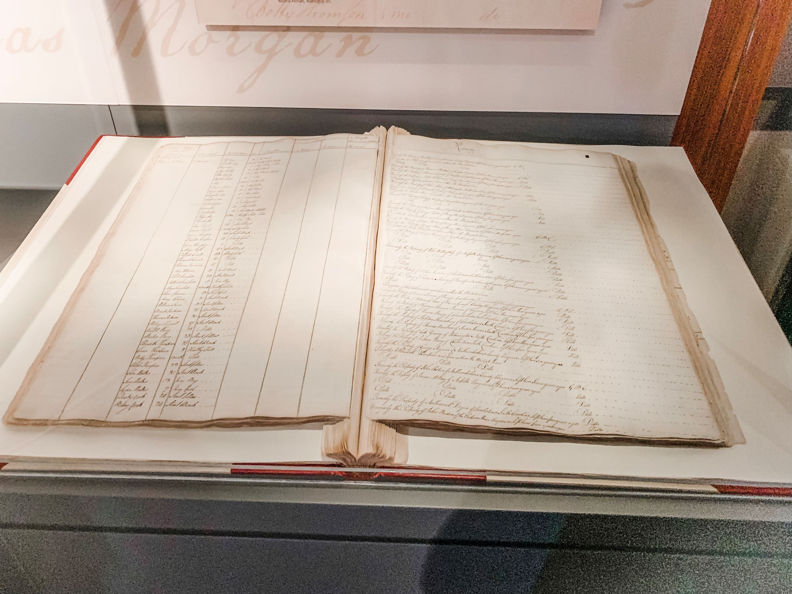 Inspection Roll of Negroes Book No. 1 on Loan from the U.S. National Archives