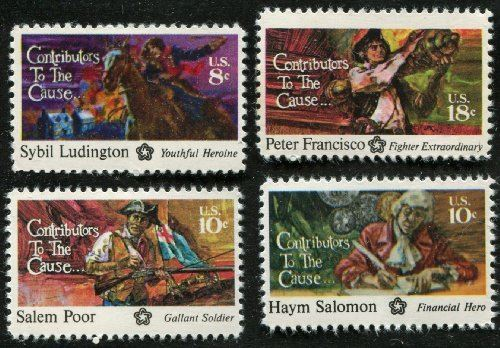 Contributors to the cause postage stamps