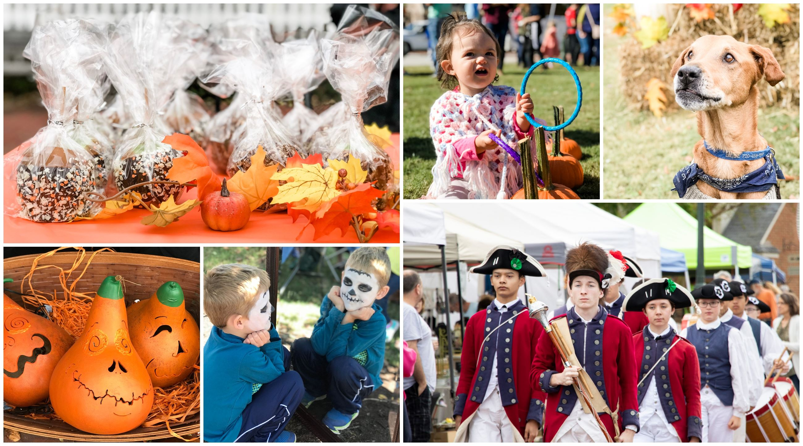 October Market Activities including music, face painting, and games