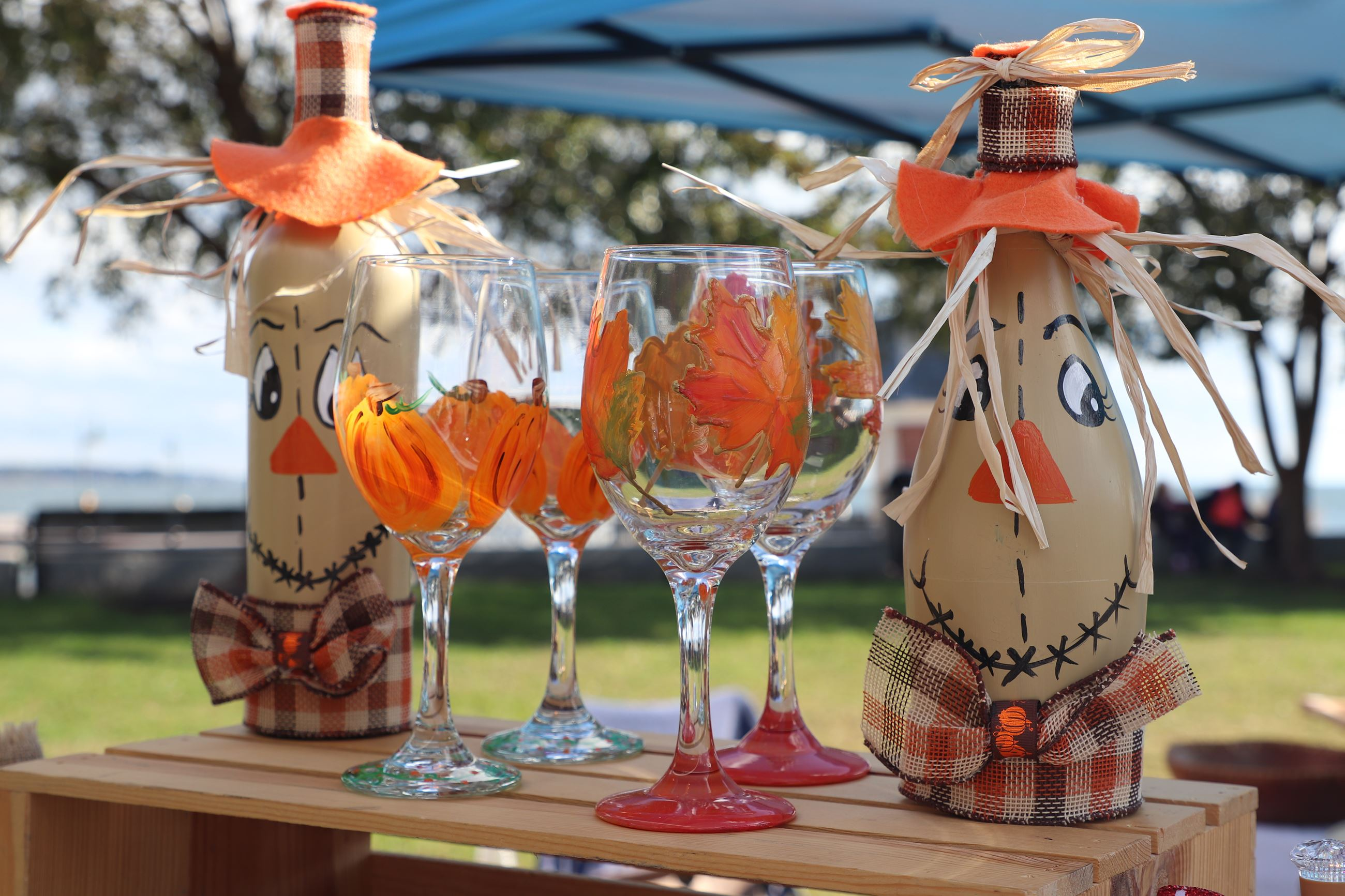 Fall Painted wine glasses