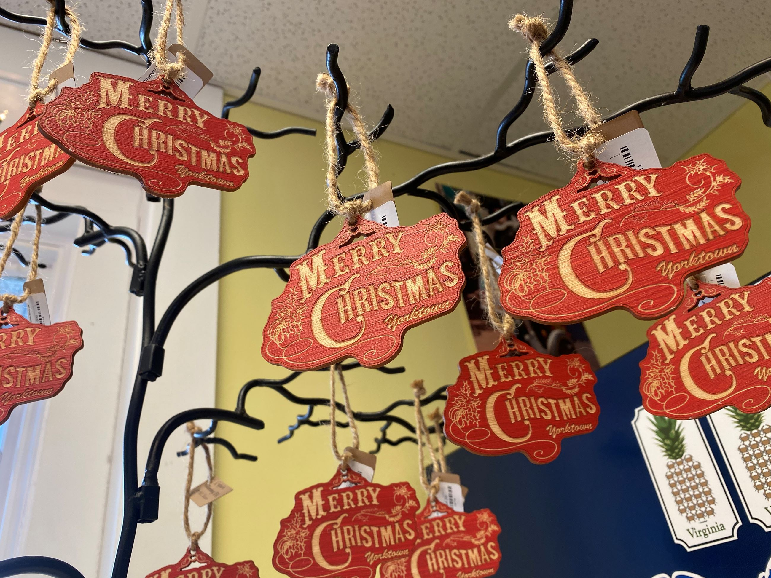 Merry Christmas Ornaments at Patriot Tours and Provisions