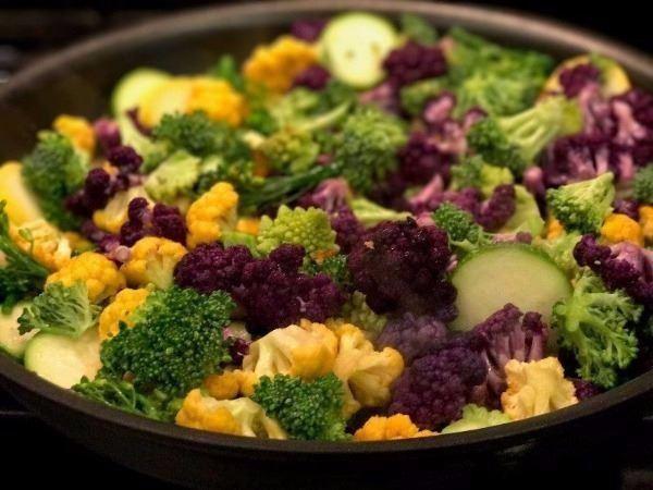 Cheddar Cauliflower Skillet