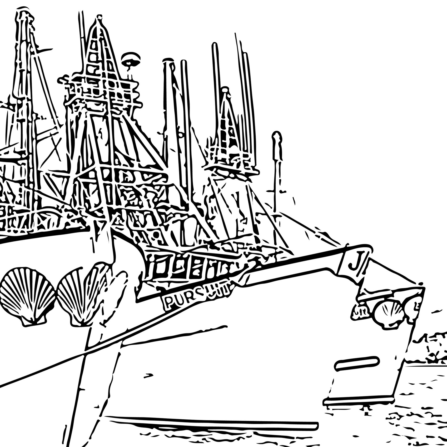 Coloring Pages Seaford Scallop Company