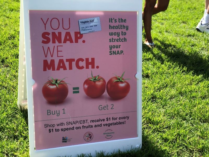 SNAP and Fresh Match Program Sign