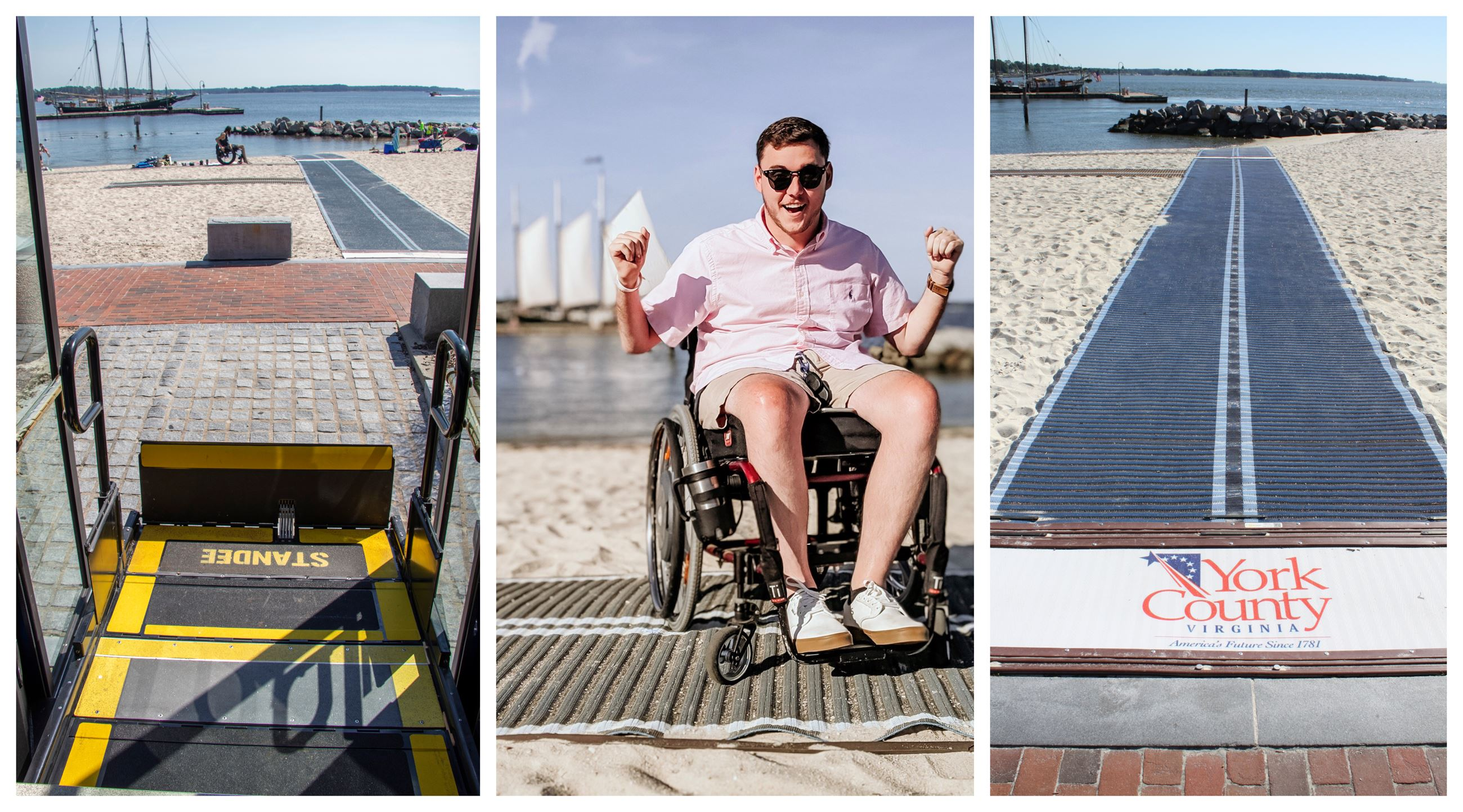 Wheelchair Accessible Trolley and Beach Mobi-mat