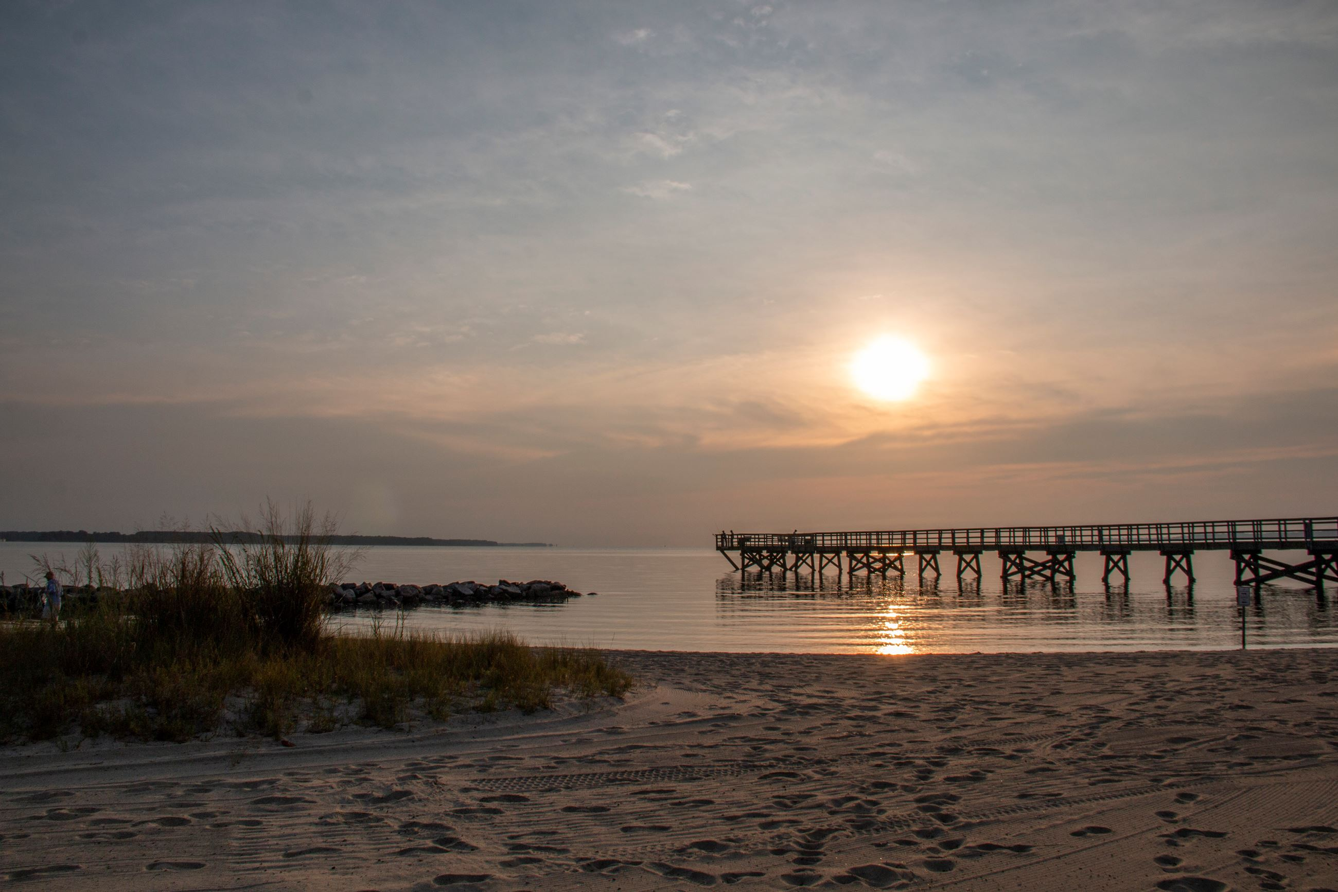 Yorktown Beach at Sunrise