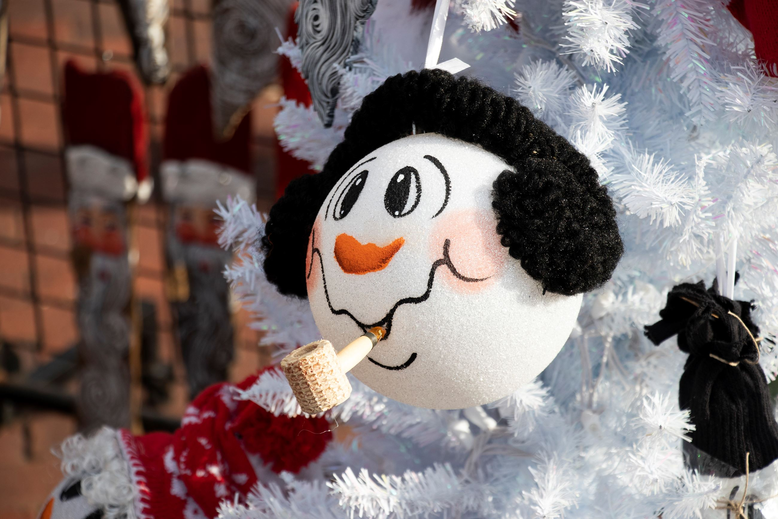 Snowman Ornament made by Artist Sheila Moore
