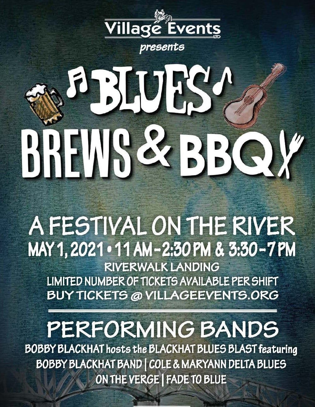 Blues Brews BBQ Festival Flyer