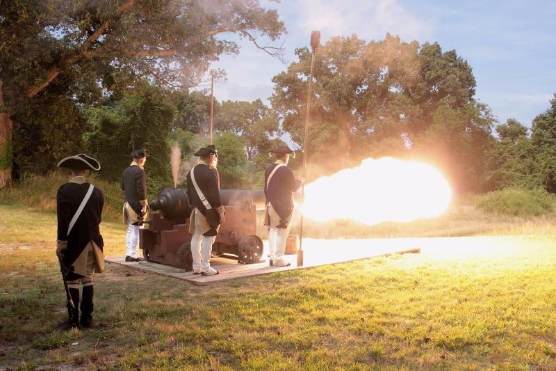 Cannon Firing Battlefield