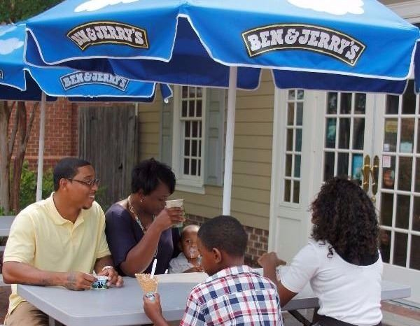 Ben and Jerrys Outdoor Dining Family