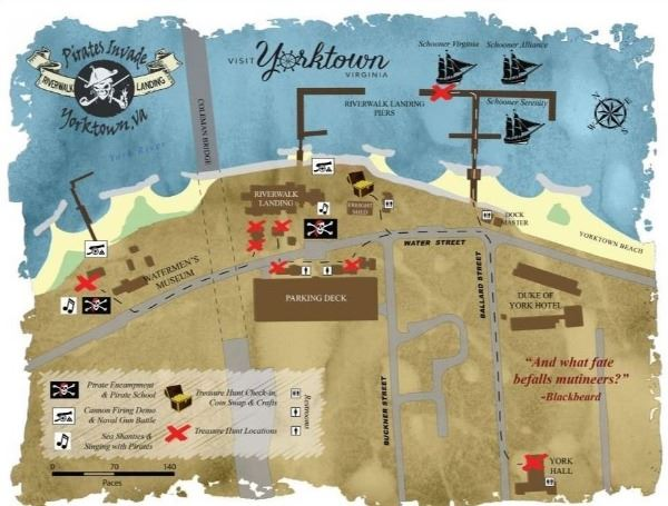 Pirate Treasure Map for Riverwalk Landing