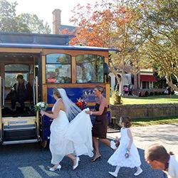 Bride Enters Trolley
